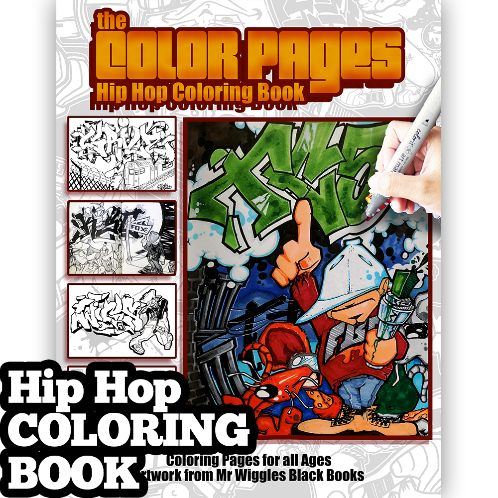 mr wiggles hip hop coloring book