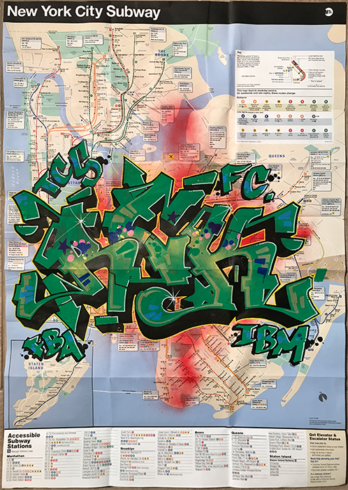 graffiti map rek green piece