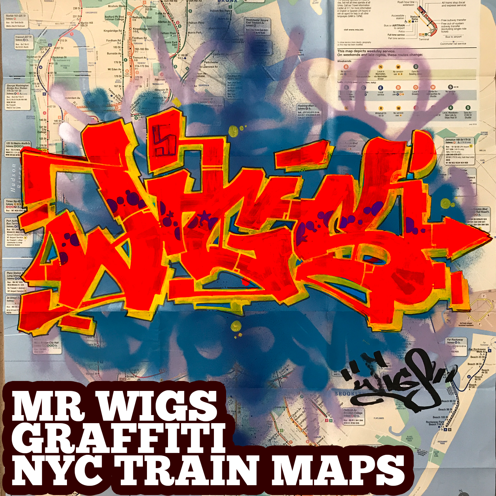 graffiti map wigs red dawn a