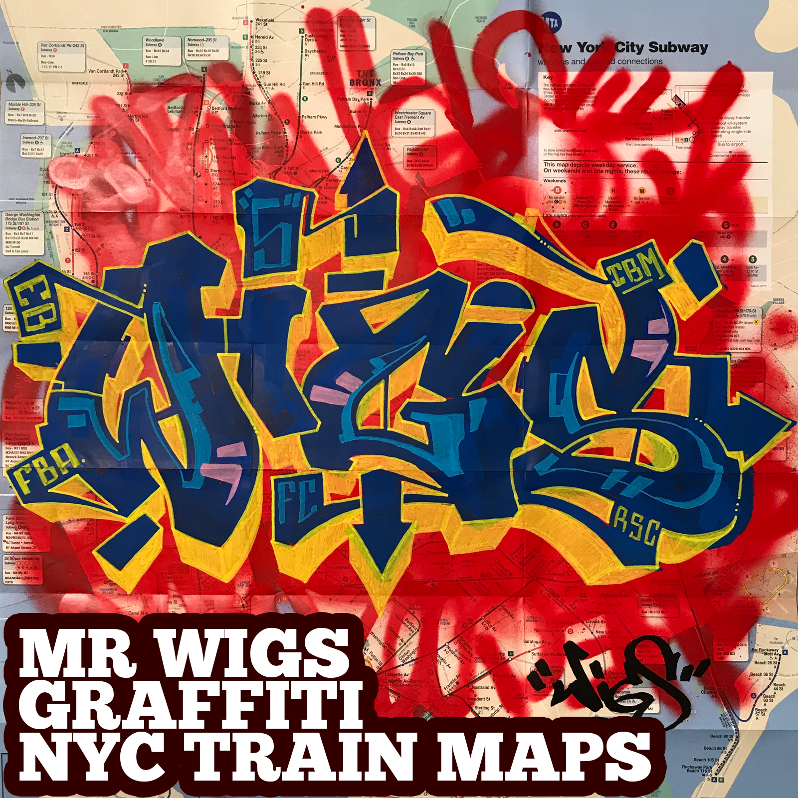 graffiti map wigs blue yellow 2