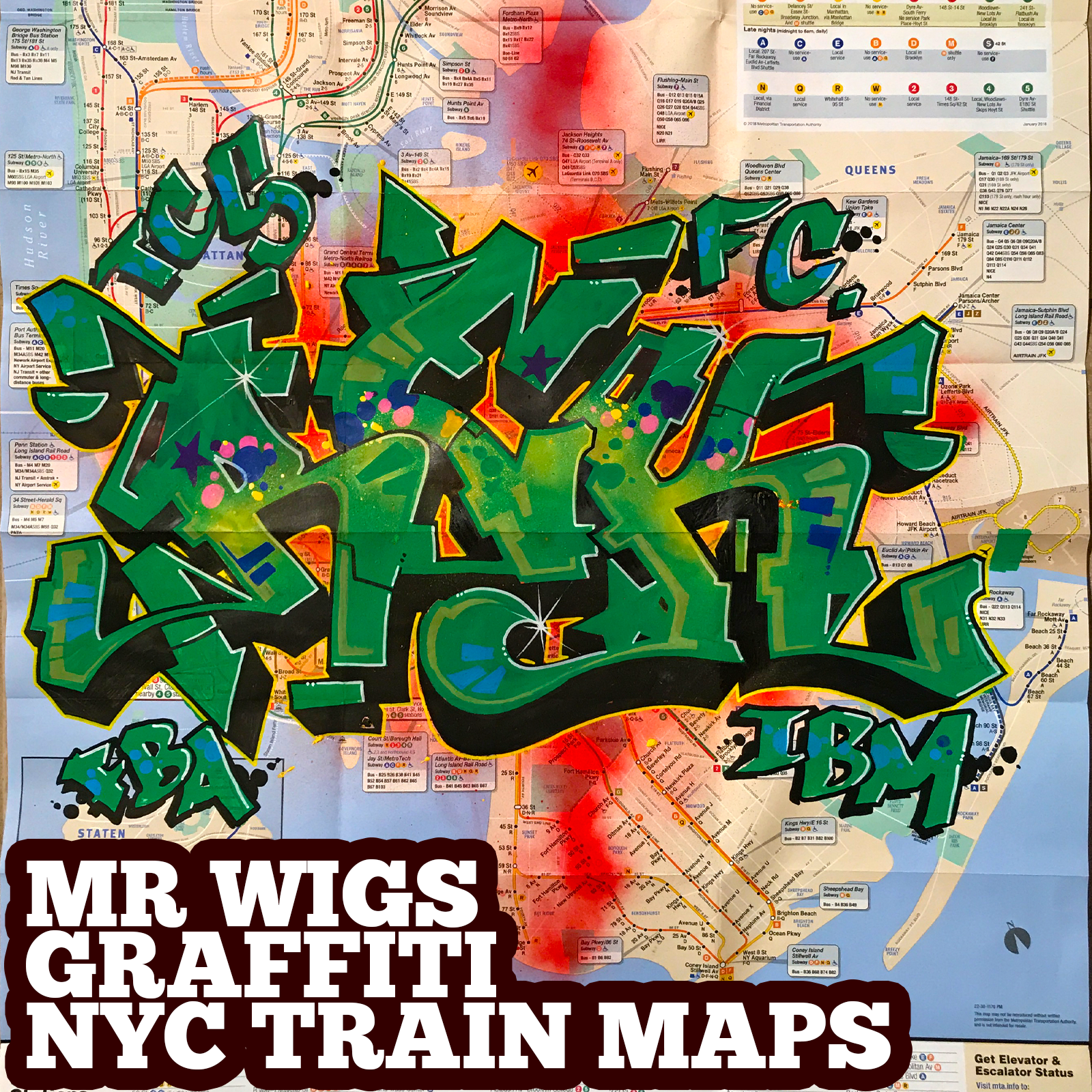 graffiti map rek green