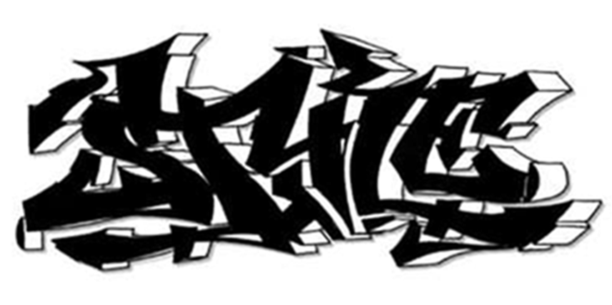 shadow graffiti tattoo design